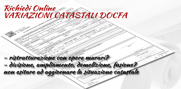 architetto on line offre il servizio di variazione catastale docfa online