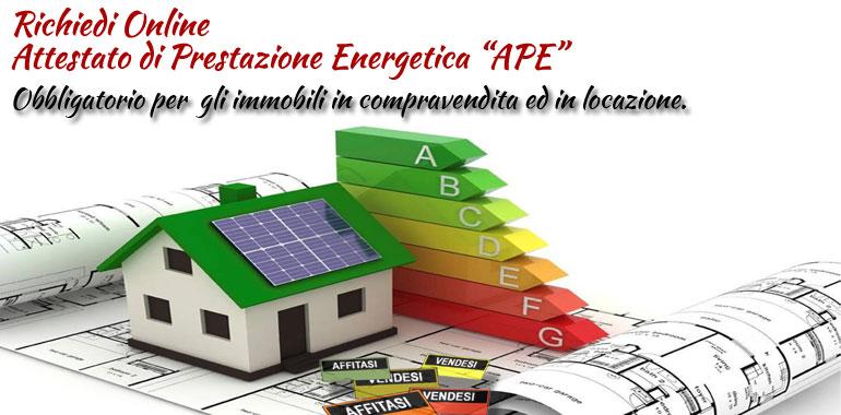 attestato di prestazione energetica online