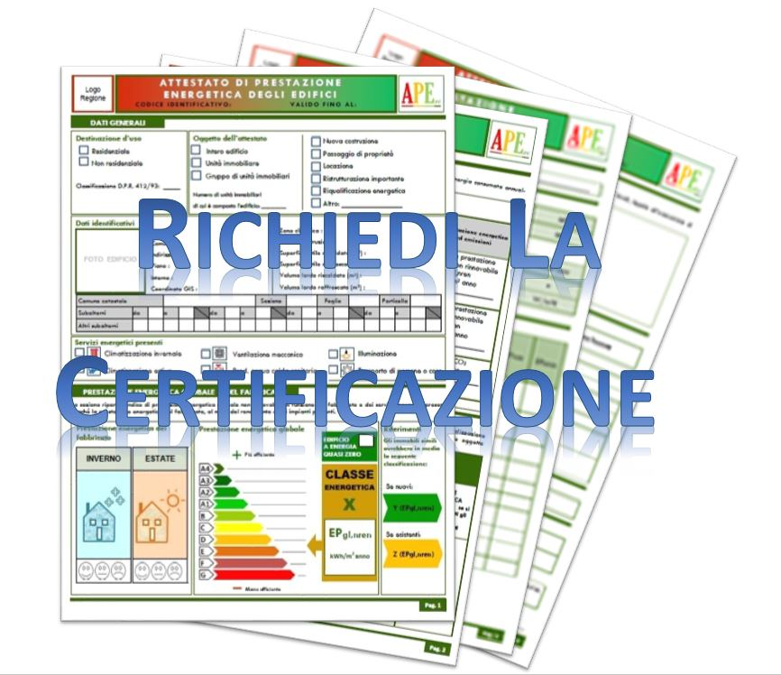 richiedi la certificazione energetica
